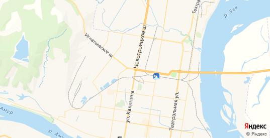 Карта Благовещенска с улицами и домами подробная. Показать со спутника номера домов онлайн