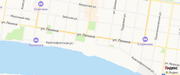 Квартал 488 на карте Благовещенска с номерами домов