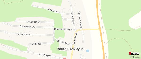 Центральная улица на карте села Кантон-коммуны с номерами домов