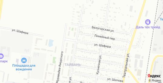 Улица Шафира в Благовещенске с номерами домов на карте. Спутник и схема онлайн