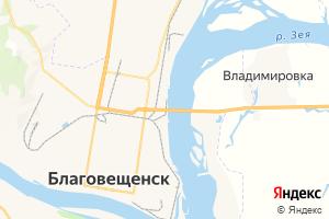 Карта г. Благовещенск Амурская область