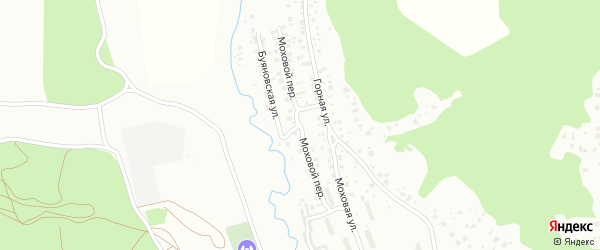 Моховой переулок на карте поселка Моховой Пади с номерами домов