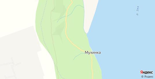 Карта поселка Мухинка в Благовещенске с улицами, домами и почтовыми отделениями со спутника онлайн