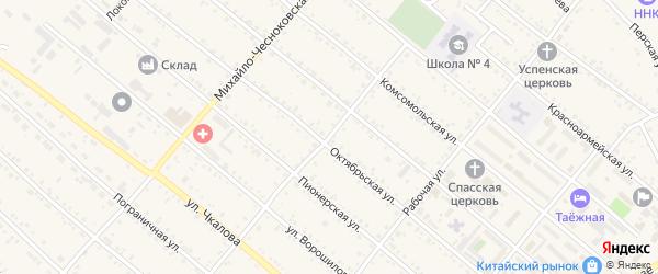 Улица Мухина на карте Шимановска с номерами домов