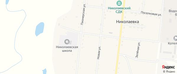 Пионерская улица на карте села Николаевки с номерами домов