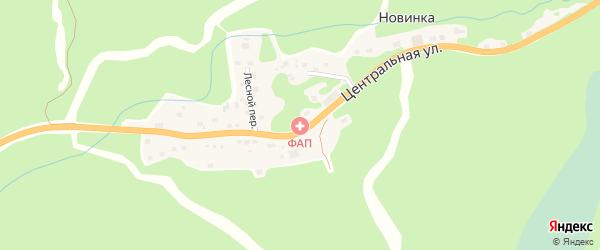 Зеленый переулок на карте села Новинки с номерами домов