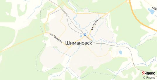 Карта Шимановска с улицами и домами подробная. Показать со спутника номера домов онлайн