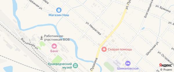 Улица Гайдара на карте Шимановска с номерами домов