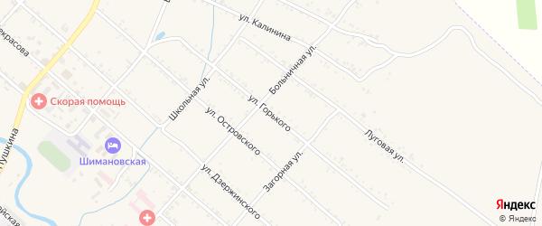 Улица Горького на карте Шимановска с номерами домов