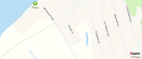 Тихая улица на карте села Усть-Ивановки Амурской области с номерами домов