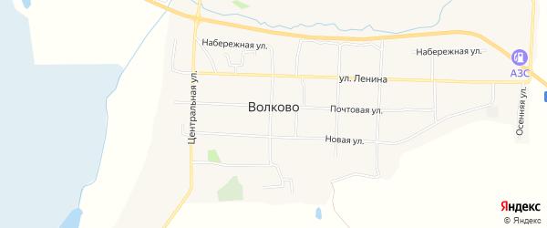 СНТ Формация на карте села Волково Амурской области с номерами домов