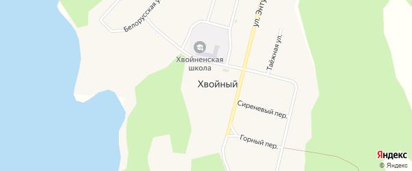 Горный переулок на карте Хвойного поселка с номерами домов
