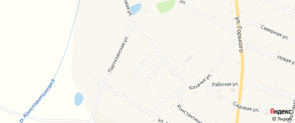 Колхозный переулок на карте села Константиновки Амурской области с номерами домов