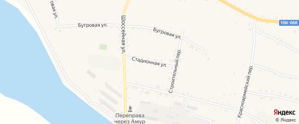 Стадионная улица на карте села Константиновки с номерами домов