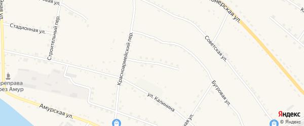 Транспортный переулок на карте села Константиновки Амурской области с номерами домов