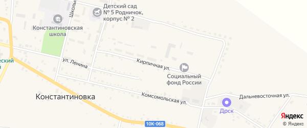 Кирпичная улица на карте села Константиновки с номерами домов