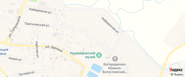 Партизанская улица на карте села Ивановки с номерами домов