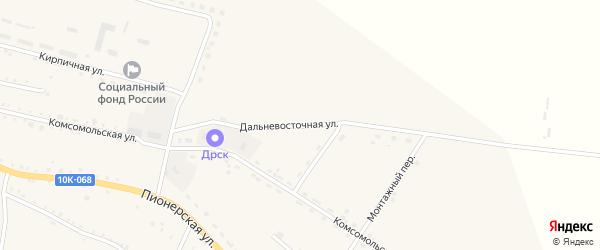 Дальневосточная улица на карте села Константиновки с номерами домов