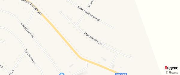 Монтажная улица на карте села Константиновки с номерами домов