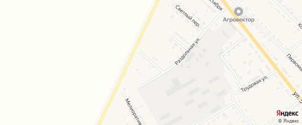 Молодежный переулок на карте села Тамбовки с номерами домов