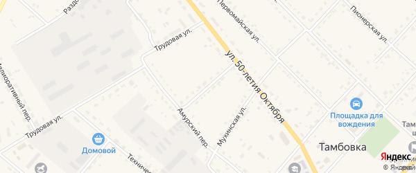 Свободный переулок на карте села Тамбовки с номерами домов