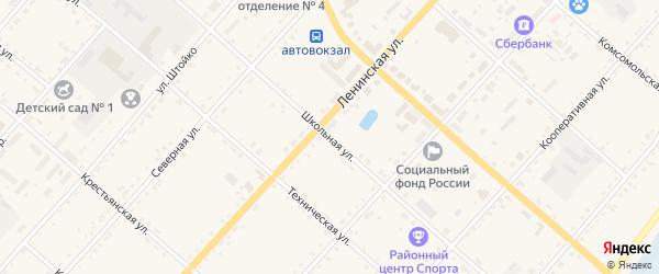 Школьная улица на карте села Тамбовки с номерами домов