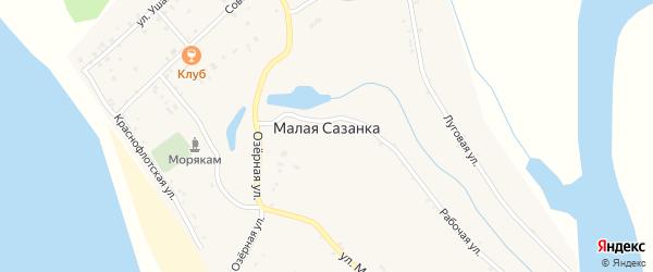 Улица Нахимова на карте села Малой Сазанки Амурской области с номерами домов