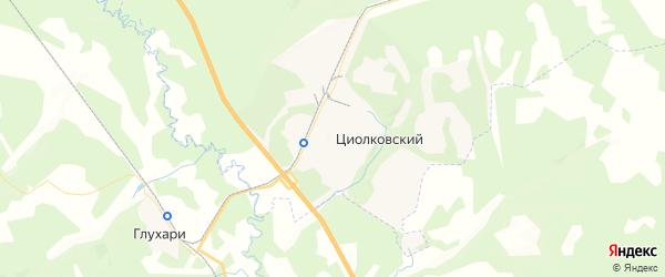 Карта Циолковского с районами, улицами и номерами домов