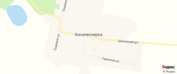 Школьная улица на карте села Киселеозерки с номерами домов