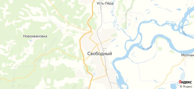 Свободный на карте