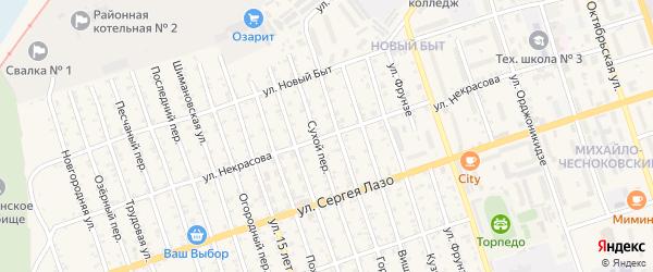 Улица Некрасова на карте Свободного с номерами домов