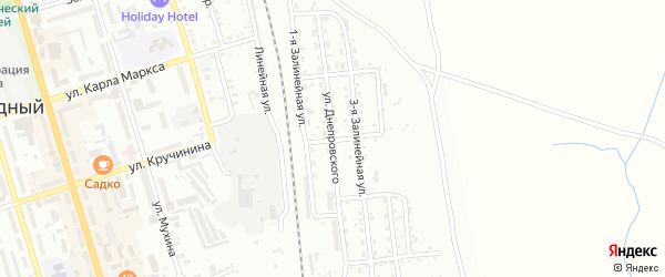 Улица Днепровского на карте Свободного с номерами домов