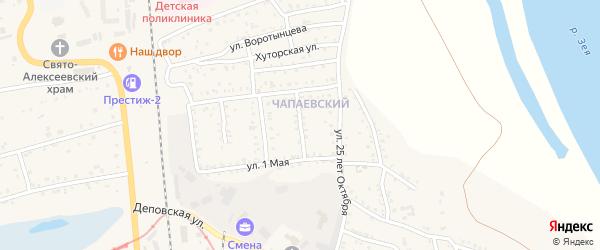 Дружный переулок на карте Свободного с номерами домов