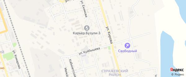 Улица Екимова на карте Свободного с номерами домов