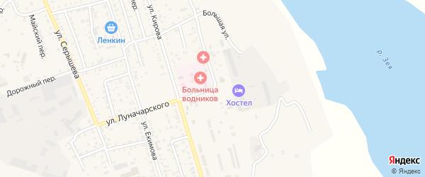 Большая улица на карте Свободного с номерами домов
