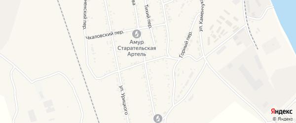 Горный переулок на карте Свободного с номерами домов