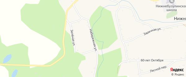Набережная улица на карте села Нижние Бузули Амурской области с номерами домов