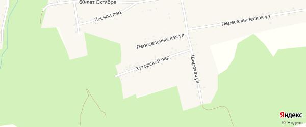 Хуторской переулок на карте села Нижние Бузули Амурской области с номерами домов
