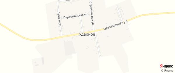 Луговая улица на карте Ударного села с номерами домов