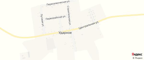 Центральная улица на карте Ударного села с номерами домов