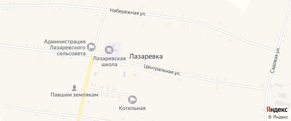 Набережная улица на карте села Лазаревка с номерами домов