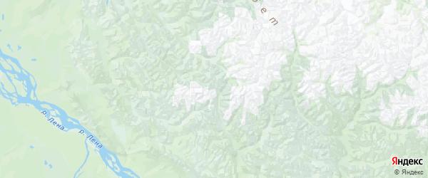 Карта Кобяйского улуса Республики Якутии с городами и населенными пунктами