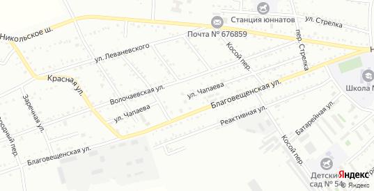 Улица Чапаева в Белогорске с номерами домов на карте. Спутник и схема онлайн