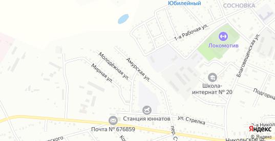 Амурская улица в Белогорске с номерами домов на карте. Спутник и схема онлайн