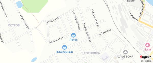 Западная улица на карте Белогорска с номерами домов