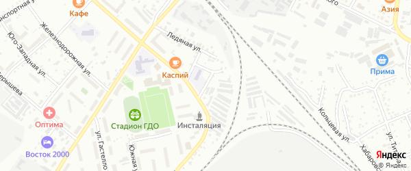 2-й Ледяной переулок на карте Белогорска с номерами домов