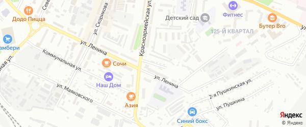 Комсомольский переулок на карте Белогорска с номерами домов