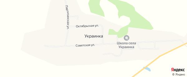 Карта села Украинки в Амурской области с улицами и номерами домов