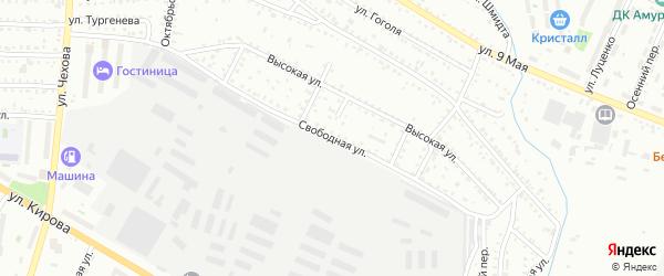 Свободная улица на карте Белогорска с номерами домов
