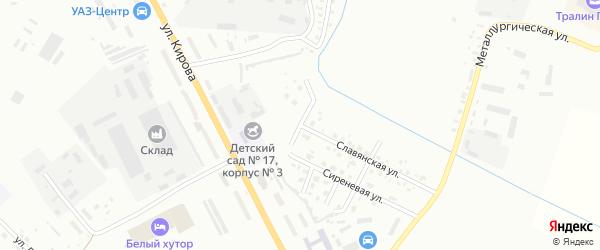 Морозный переулок на карте Белогорска с номерами домов